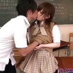 イチャイチャに歯止めがきかなくなりついに教室でセックスが始まっちゃった