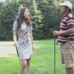 ゴルフが下手な女の子にエッチな罰ゲーム【無修正】