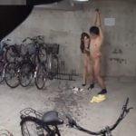 駐輪場で巻き起こる痴女とM男の変態PLAY