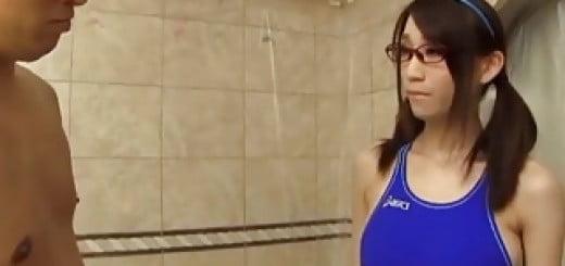 メガネッコ 競泳水着