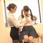 女教師と女子校生のレズフェチ動画