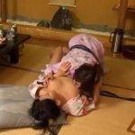 温泉旅館で仲良し2人組が酔った勢いでレズプレイ